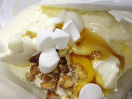 蜂蜜くるみフレーバーのチョコ入りバニラアイス01