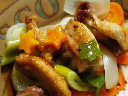 カラフルペパーのスパイシー鶏焼き