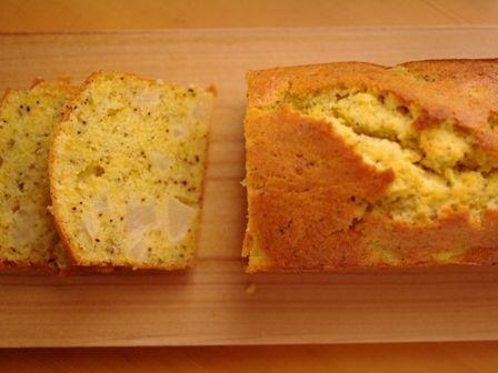 白桃と紅茶のパウンドケーキ07