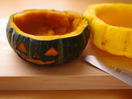 ハロウィンかぼちゃのまるごとクリームチーズケーキ05