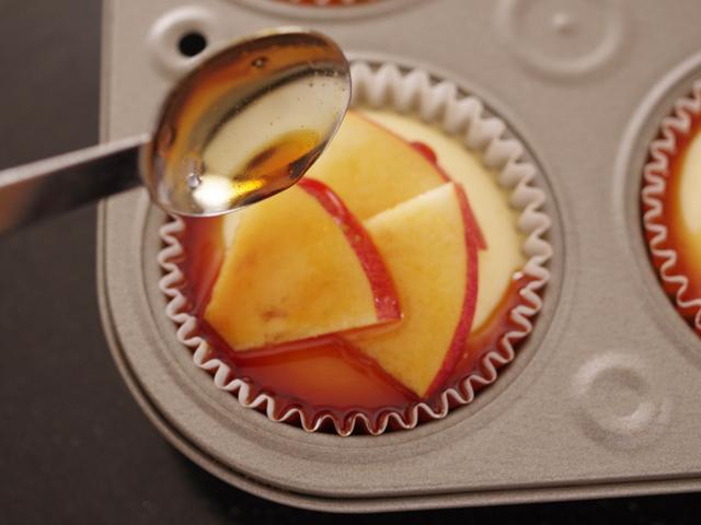 簡単りんごのバスクチーズケーキ10