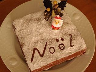 チョコレートガナッシュのクリスマスケーキ13