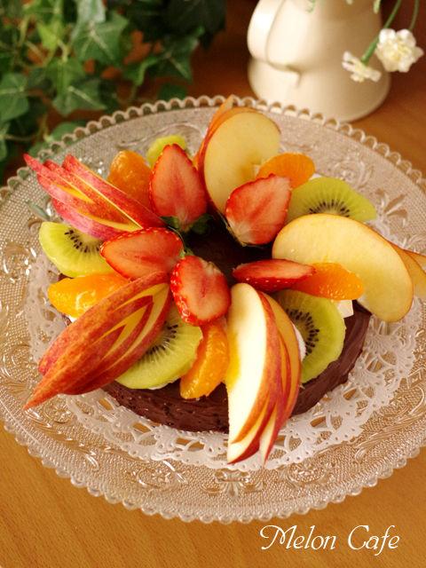 簡単手順で本格ガトーオショコラのクリスマスケーキ03