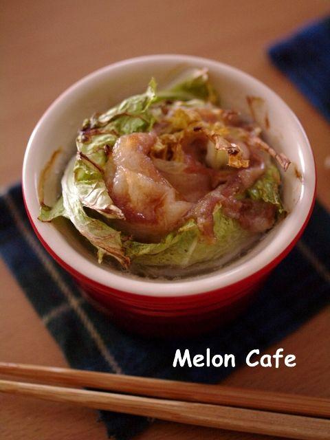 柚子こしょう醤油でいただく豚肉と白菜の鍋風ココットaaa