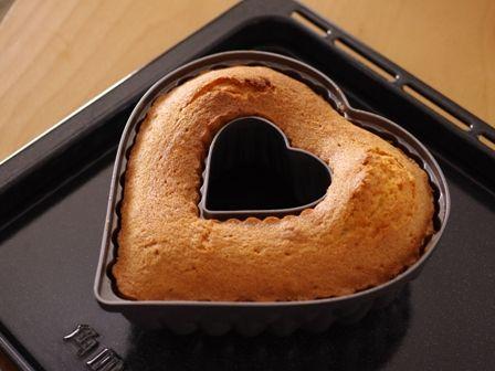バレンタインのチョコレートとバニラのハートケーキ03