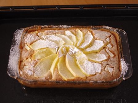 ホットケーキミックスで簡単クリスマスのりんごケーキ07