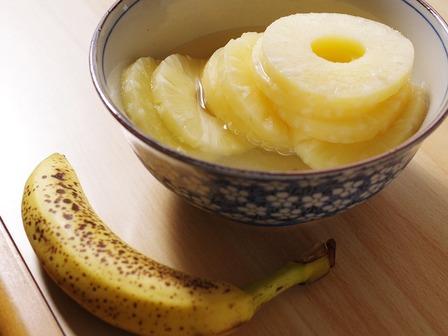 夏のホットケーキミックスパンバナナとパイナップル02