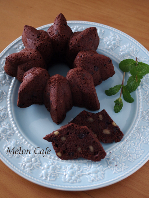 チョコとクルミの男前ケーキ00