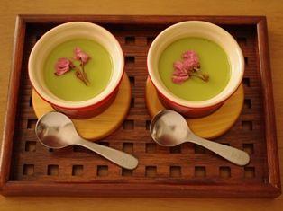 桜のせ抹茶プリン10