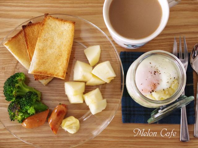 ある日の朝食エッグスラット