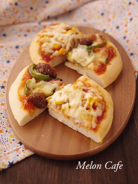 生地から簡単パン生地ピザ