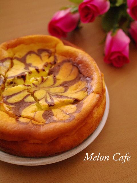 ホットケーキミックスで簡単マーブルチーズケーキ
