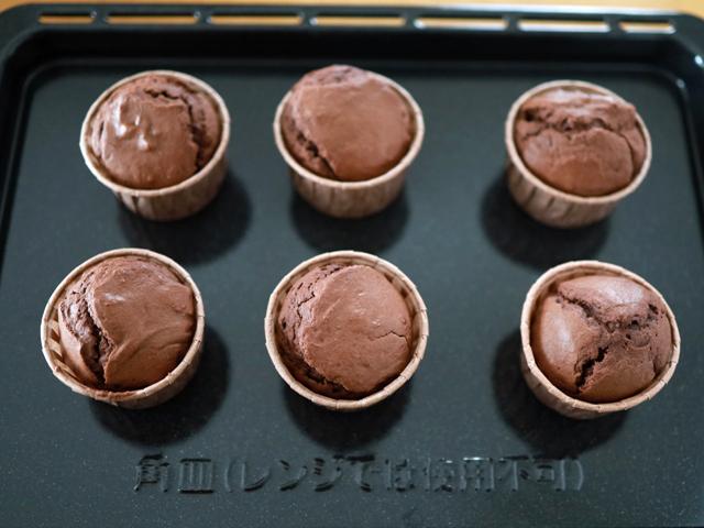 ホットケーキミックスと豆腐のココアマフィン08