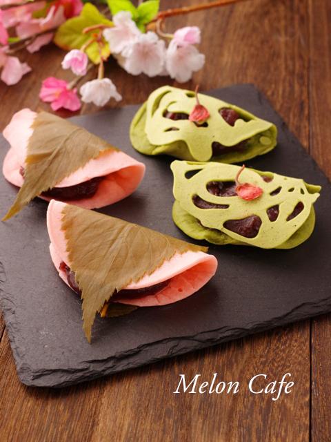関西風桜餅 ホットケーキミックスで春の和菓子