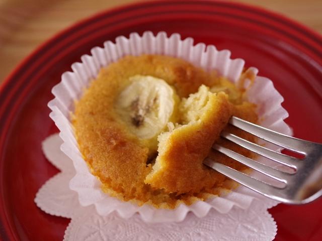 簡単はちみつバナナのカップケーキ00