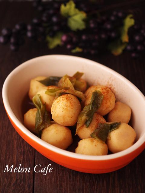 里芋と長ねぎのピリ辛ホクホク煮物