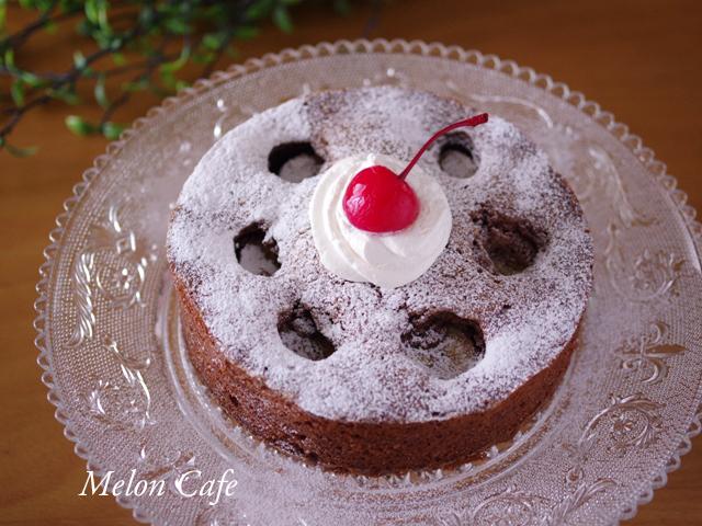 チョコバナナのドットケーキ
