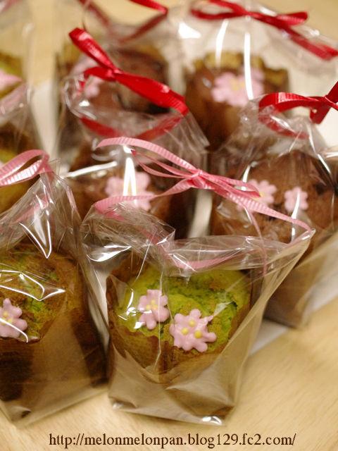 春の花カップケーキ抹茶とチョコ05a