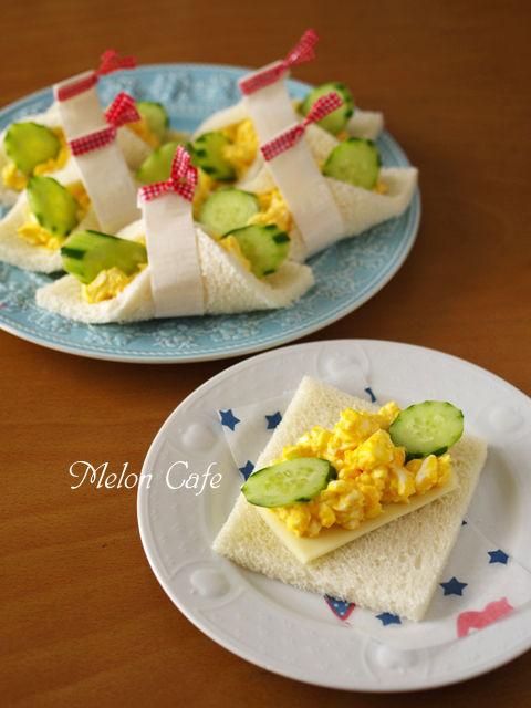 サンドイッチの日タマゴサラダのチーズサンドシナイッチ