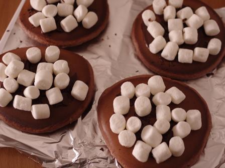 焼きマシュマロのチョコレートホットケーキ03