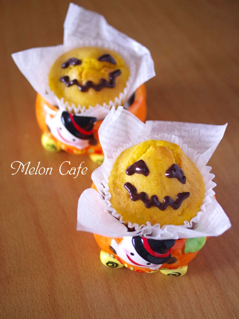 ハロウィンかぼちゃの豆乳カップケーキ