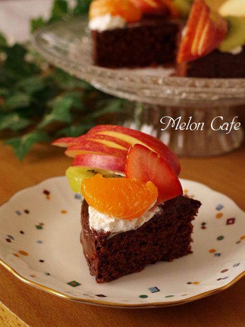 簡単手順で本格ガトーオショコラのクリスマスケーキ02