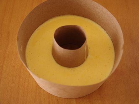 レンジで簡単ホットケーキミックスの優しいシフォンケーキ05