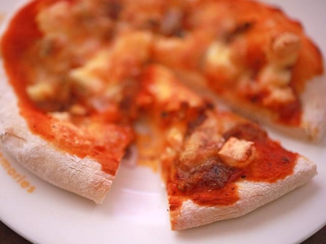 冷凍生地でピザ01