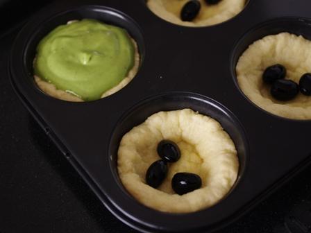 ホットケーキミックスの簡単タルト抹茶クリーム04