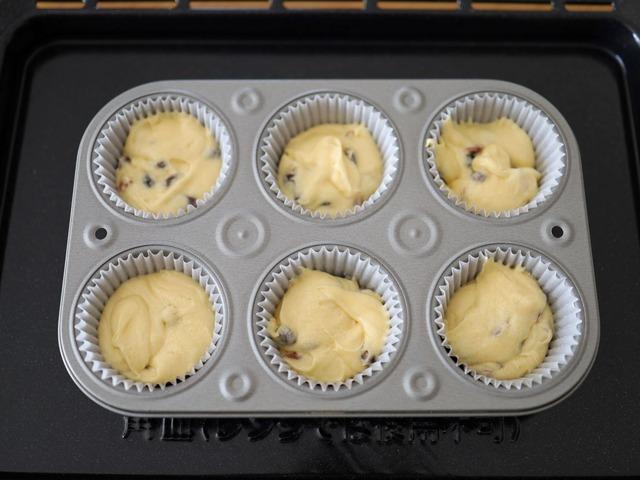 HMで作るはちみつフルーツカップケーキ_06