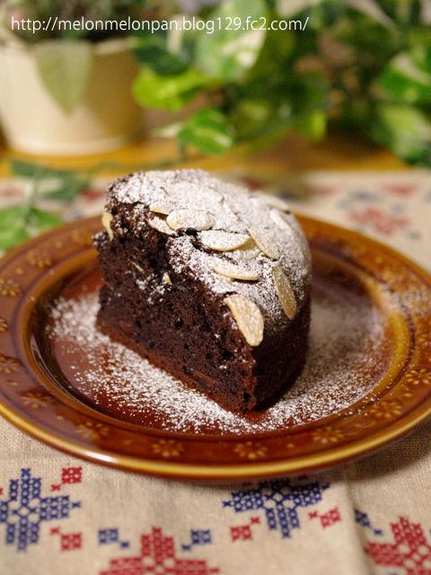 簡単生地で本格チョコレートケーキ10