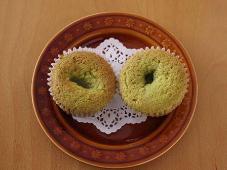 栗の甘露煮まるごと簡単はちみつカップケーキ抹茶とあずき04