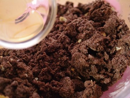 フルブラでつくる、パリさくアーモンドのチョコレートブラウニー02