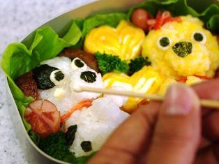 仲良し子犬のお弁当02