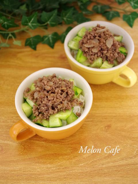 さっぱり肉きゅうり素麺05