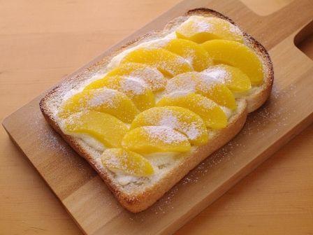 桃缶と塩麹でとろ甘デザートトースト03