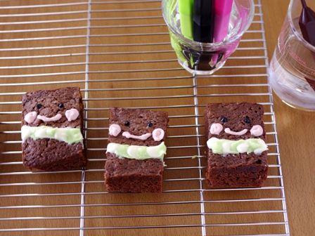 簡単本格チョコレートブラウニープリンちゃんとブラウニーとうさん01