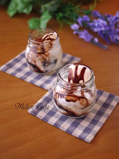 オレオとマスカルポーネで作るチョコスモアジャーケーキ