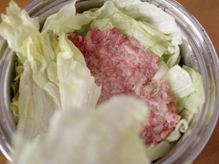 レタスとひき肉のごちそうミルフィーユ02