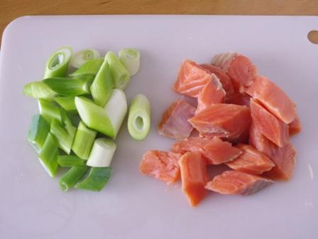 鮭と野菜のしょうゆバター炒め02