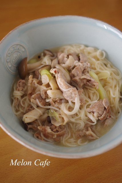 素麺であっという間スタミナ麺屋台風