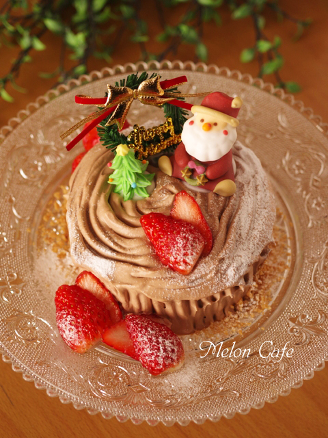 切り株チョコの簡単クリスマスケーキ