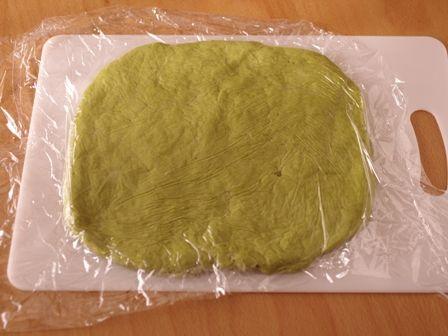 簡単ホットケーキミックスで和のおもてなしパン抹茶あずきパン04