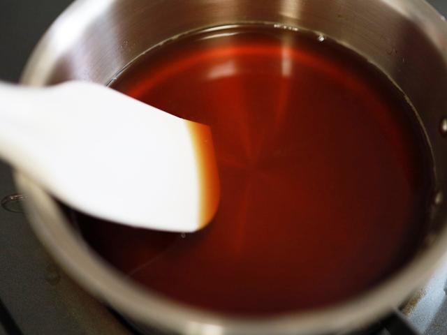 ゼラチンで簡単、紅茶ミルクゼリー07