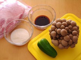 甘麹の簡単ぶたしめじ醤油炒め01