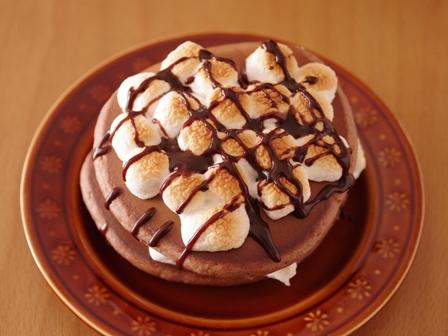 焼きマシュマロのチョコレートホットケーキ05