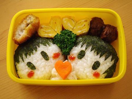 簡単おにぎりの弁当3種