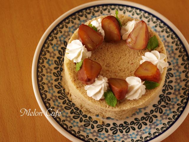 超簡単ホットケーキミックスと栗のクリスマスケーキ00