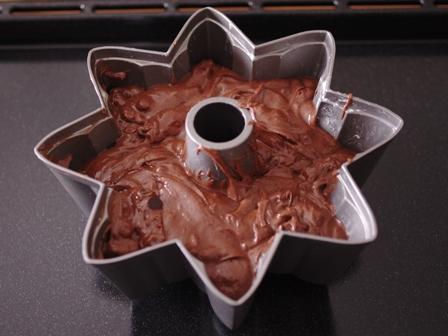 チョコとクルミの男前ケーキ02
