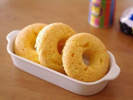 クリームチーズのシンプル焼きドーナツ